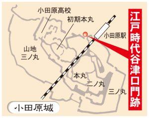 小田原城さんぽ166-地図_江戸時代谷津口門跡